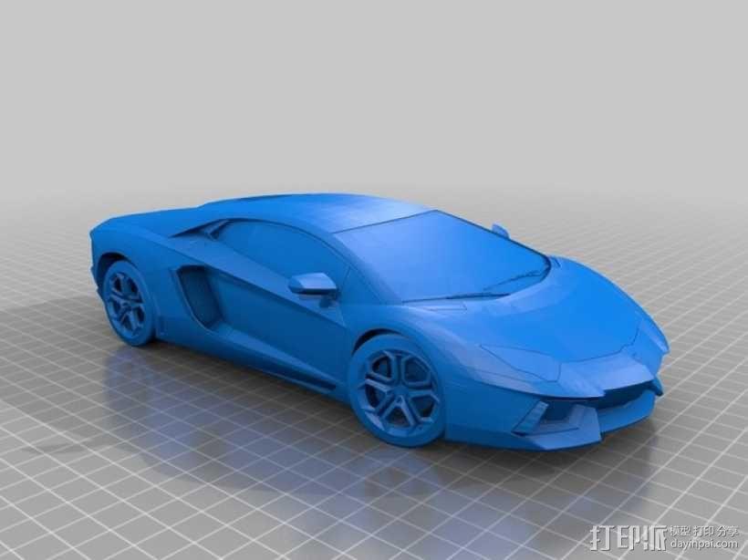 兰博基尼跑车 3D模型  图1