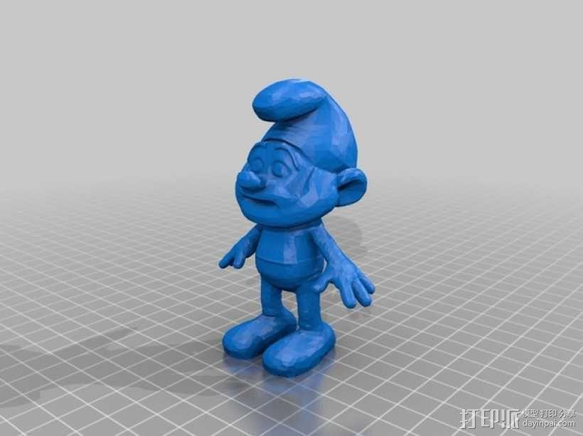 蓝精灵爸爸 3D模型  图1