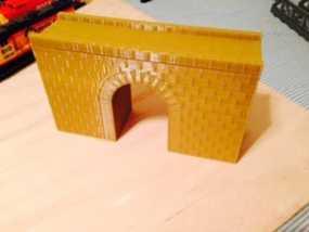 火车道 砖块桥 3D模型