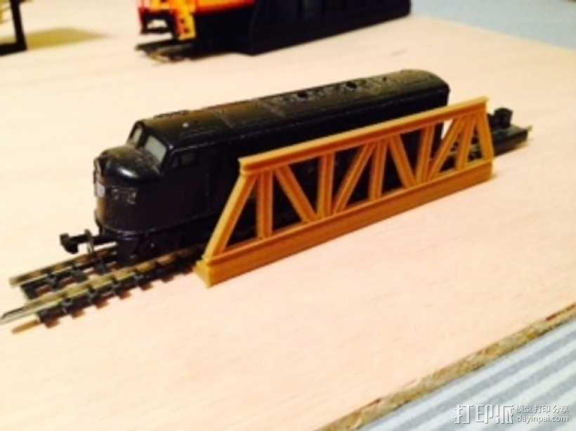 桁架桥 火车轨道 3D模型  图1
