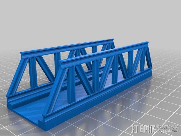 桁架桥 火车轨道 3D模型  图3