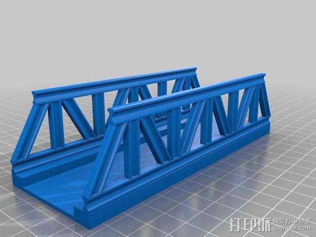 桁架桥 火车轨道 3D模型  图4