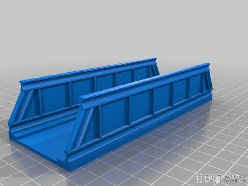 火车轨道 桥  3D模型  图2