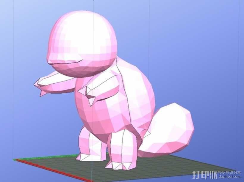 杰尼龟  3D模型  图1