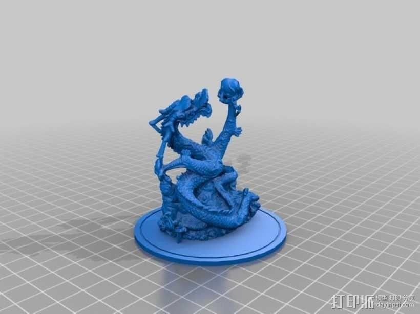 游龙戏珠  3D模型  图1