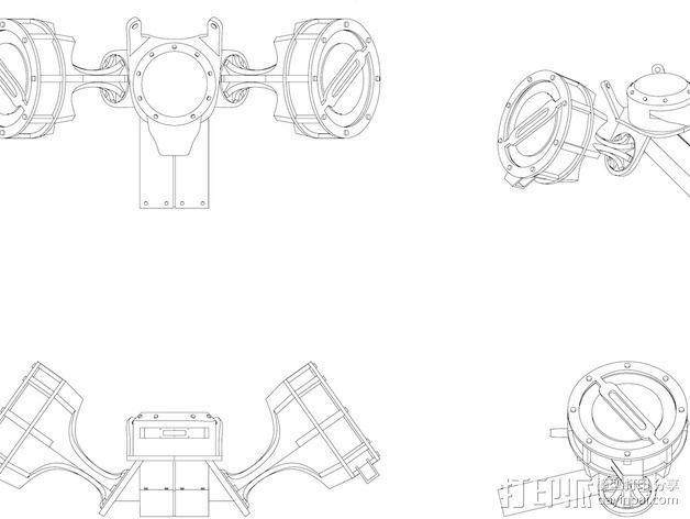机械齿轮 3D模型  图6