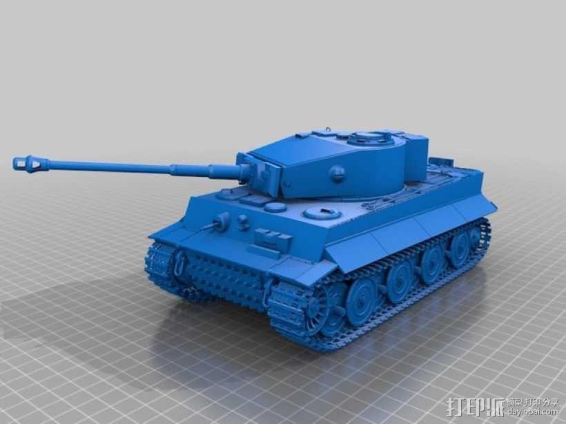 虎式重型坦克 3D模型  图1
