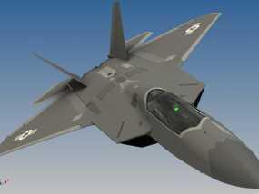 F-22 猛禽战斗机 3D模型