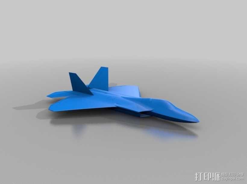 F-22 猛禽战斗机 3D模型  图2