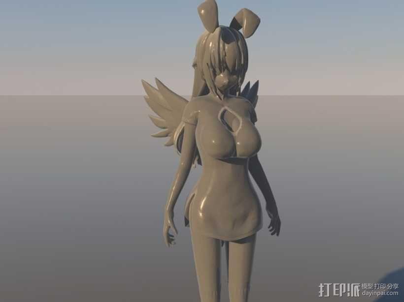 漫画少女Beniko 3D模型  图1