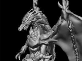 巴哈姆特龙 3D模型