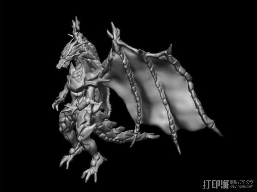 巴哈姆特龙 3D模型  图2