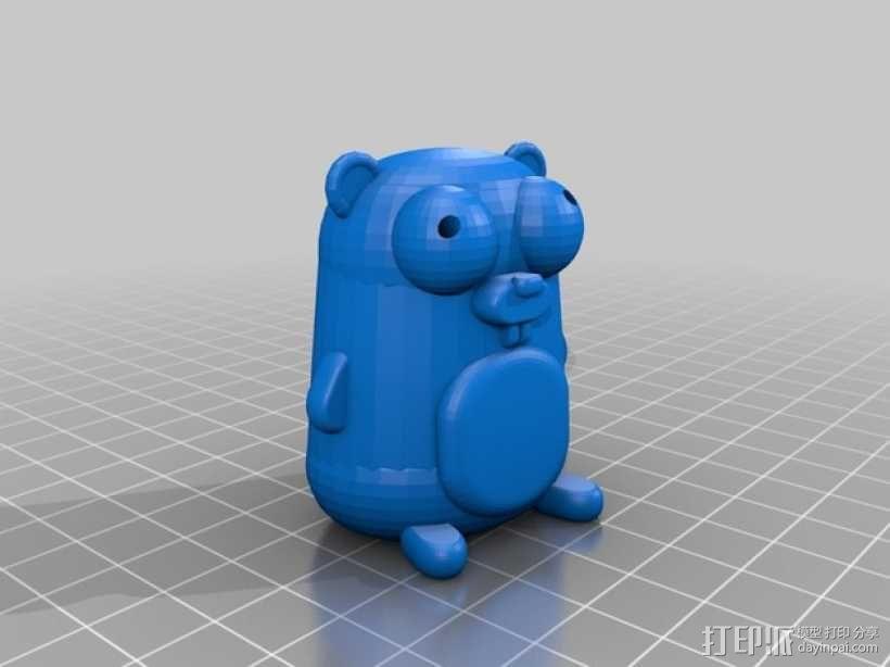 囊地鼠 吉祥物 3D模型  图1