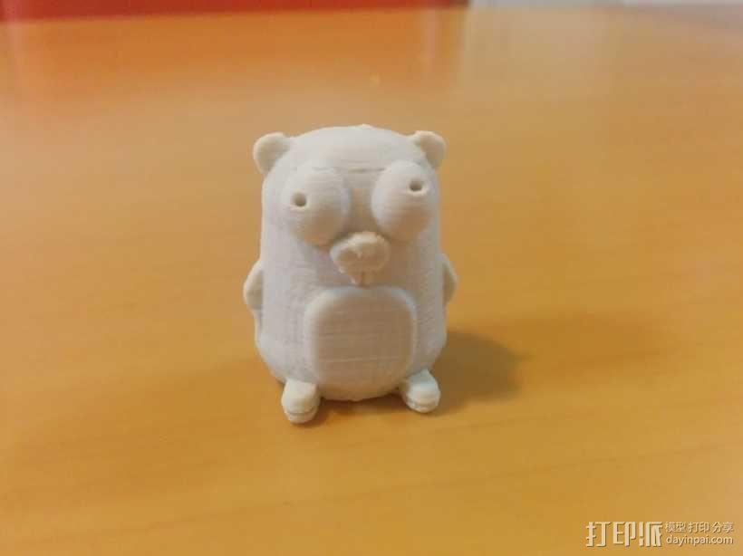 囊地鼠 吉祥物 3D模型  图2