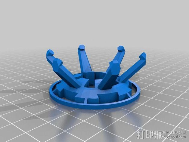 死亡星球展示架 3D模型  图5