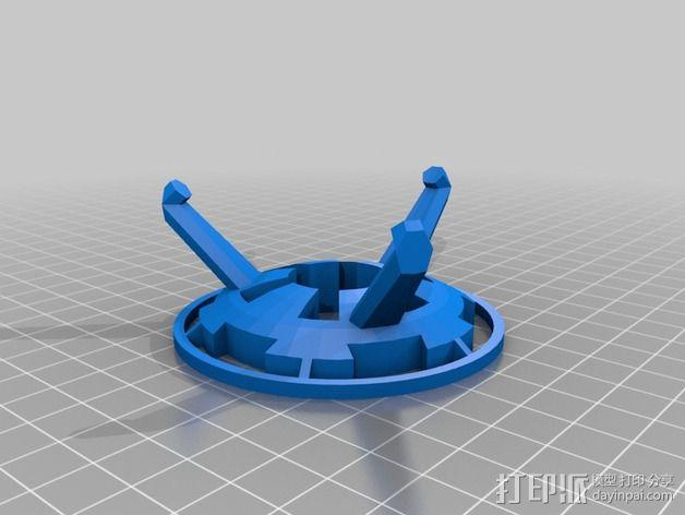 死亡星球展示架 3D模型  图3