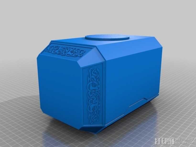 雷神之锤 锤头 3D模型  图1