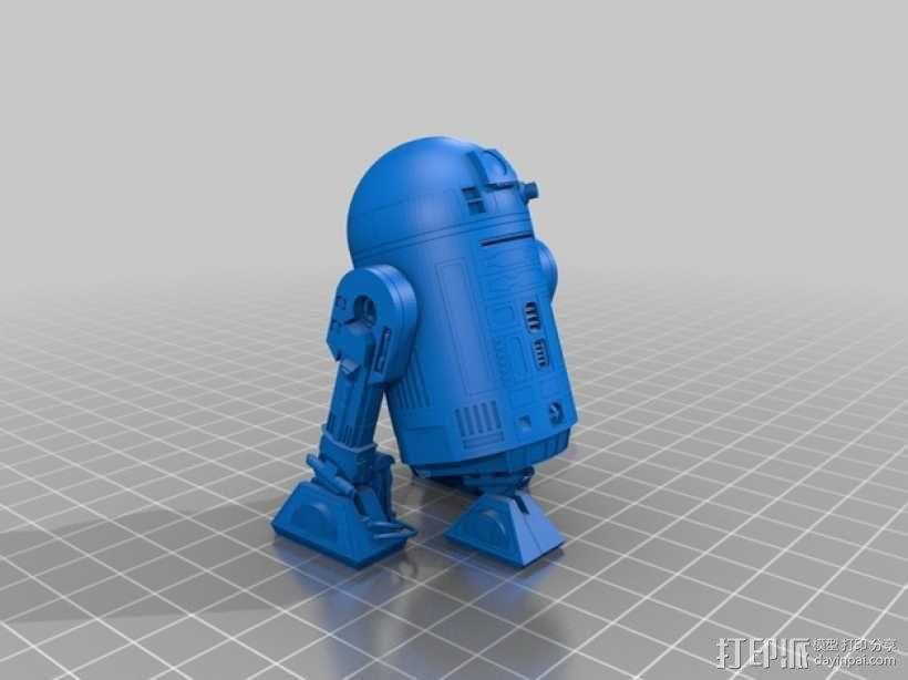 R2-D2 机器人 3D模型  图1