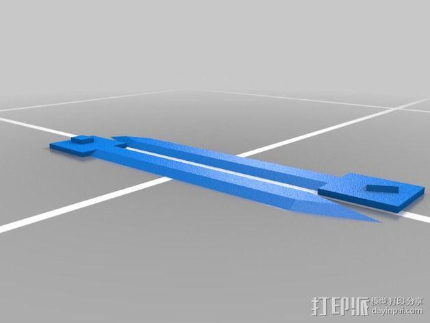 刺客信条臂剑 3D模型  图3