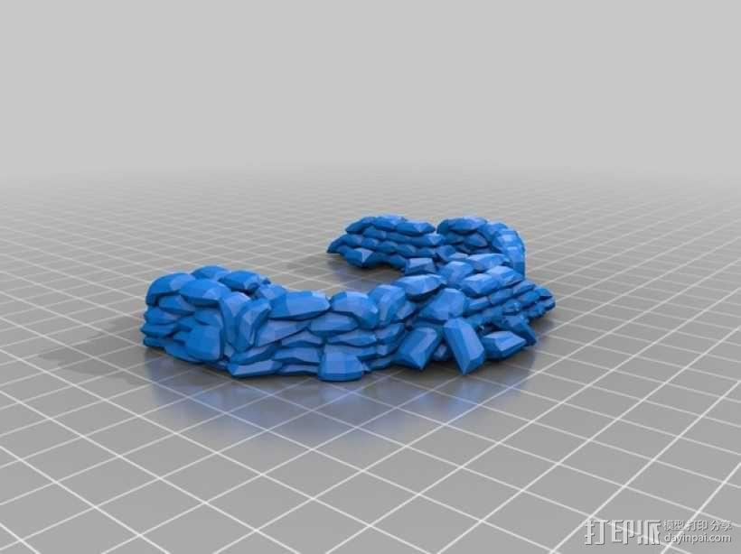 沙袋堆 沙堆 3D模型  图1