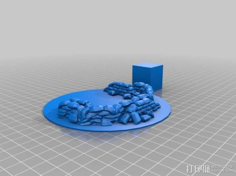 沙袋堆 沙堆 3D模型  图2