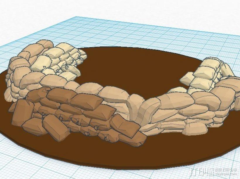 沙袋堆 沙堆 3D模型  图3