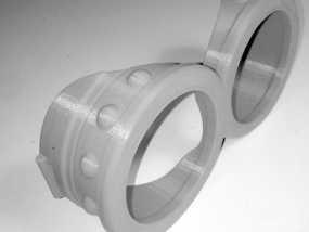 小黄人护目镜 3D模型
