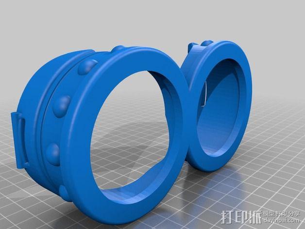 小黄人护目镜 3D模型  图2