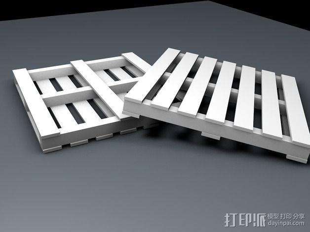 船板 遥控车底盘 3D模型  图1