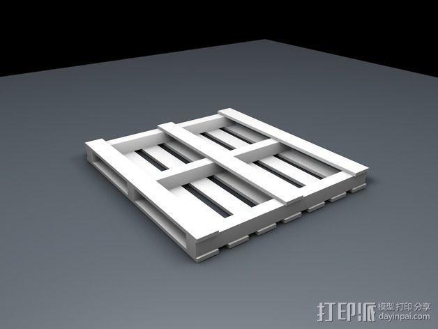 船板 遥控车底盘 3D模型  图2