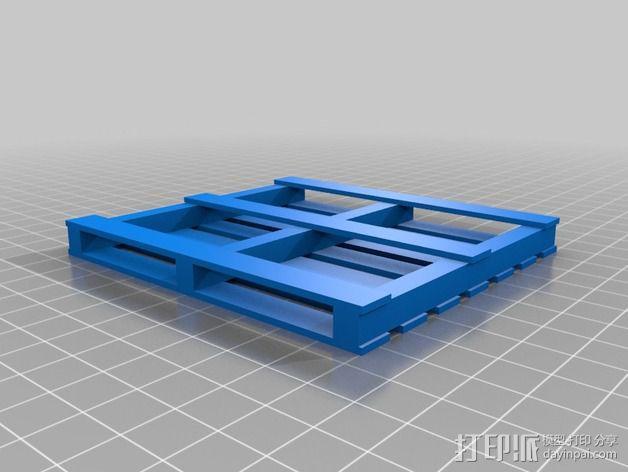 船板 遥控车底盘 3D模型  图3