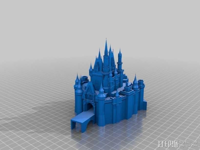 迪士尼城堡 3D模型  图1
