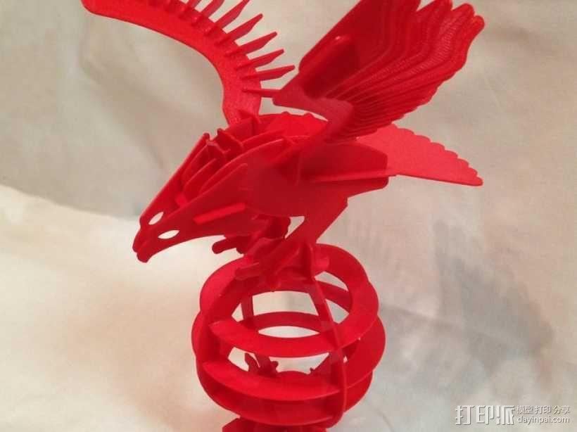 拼图鹰 3D模型  图1