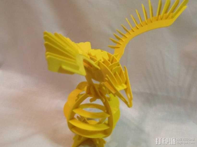 拼图鹰 3D模型  图3