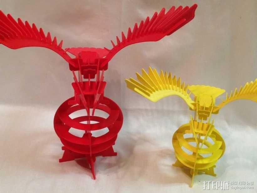 拼图鹰 3D模型  图2