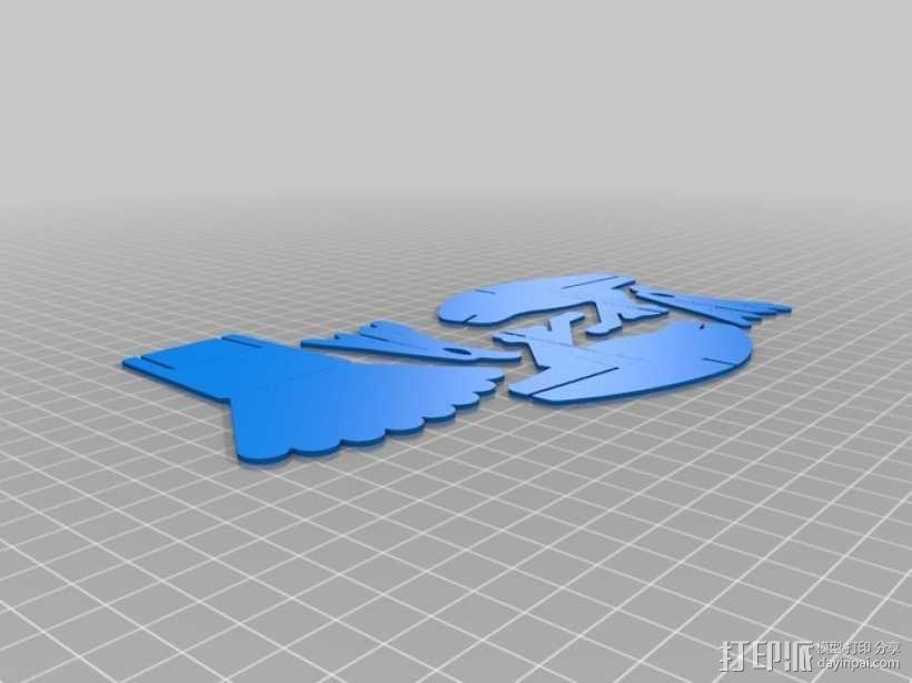 拼图鹰 3D模型  图52