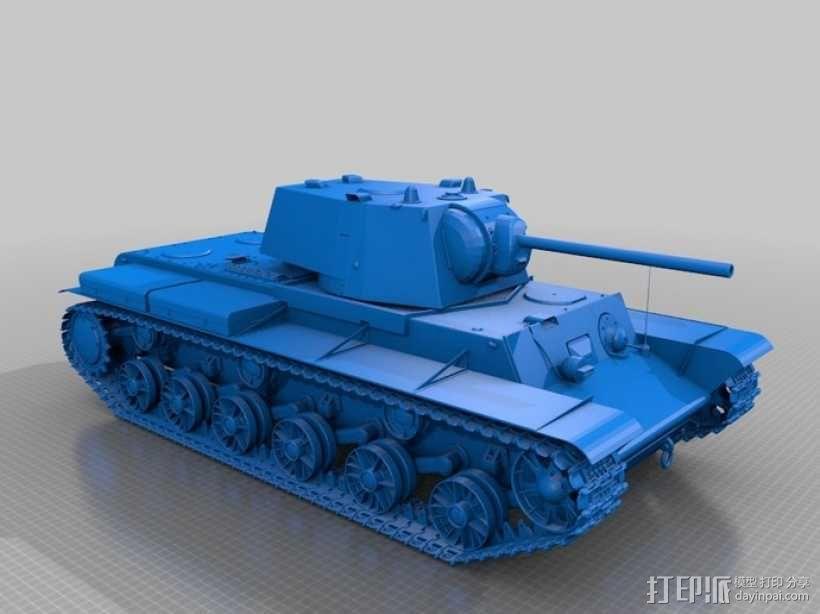 KV-1重型装甲坦克 3D模型  图1
