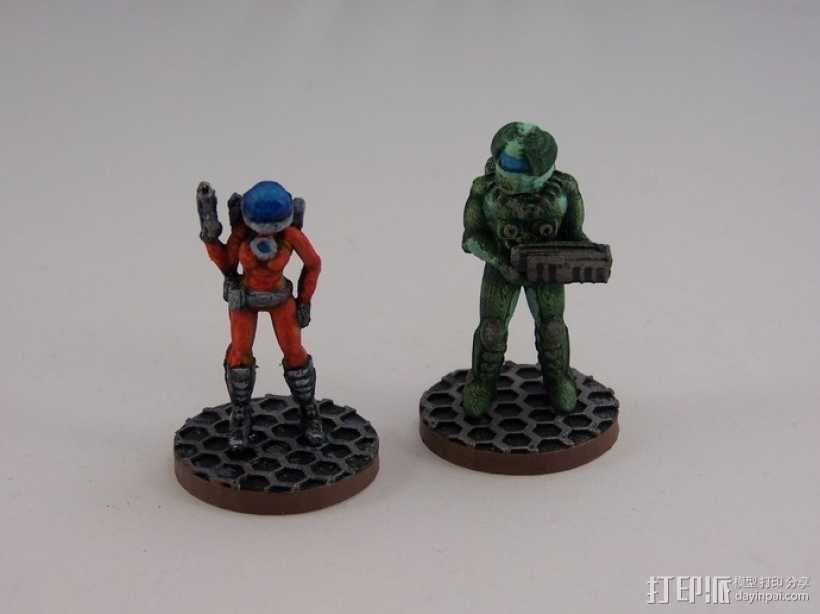 女宇航员 玩偶 3D模型  图2