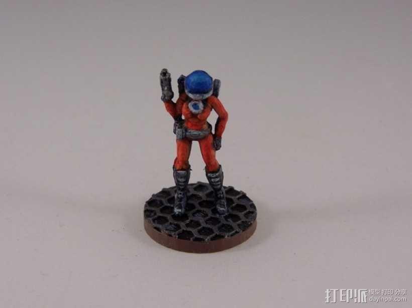 女宇航员 玩偶 3D模型  图3