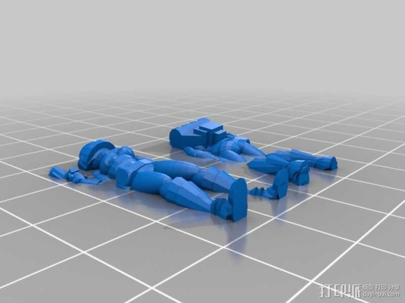 女宇航员 玩偶 3D模型  图5