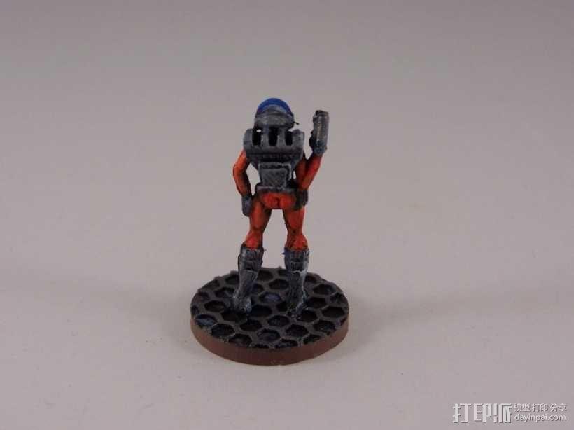 女宇航员 玩偶 3D模型  图4