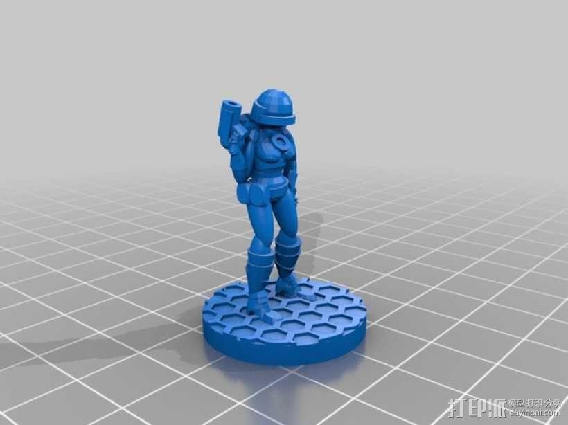 女宇航员 玩偶 3D模型  图7