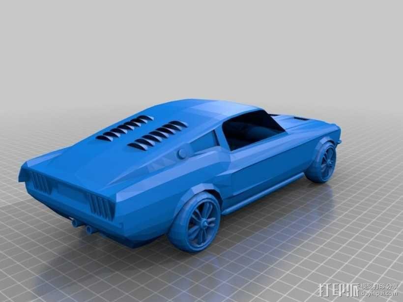 福特Mustang汽车模型 3D模型  图1