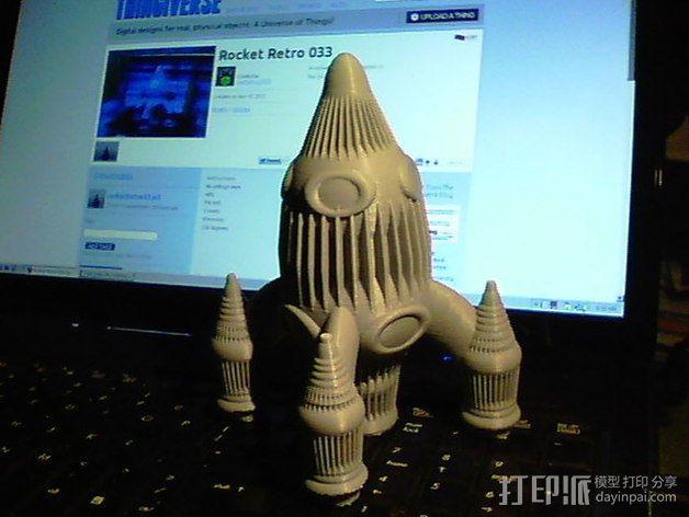 Retro 033四足火箭 3D模型  图3