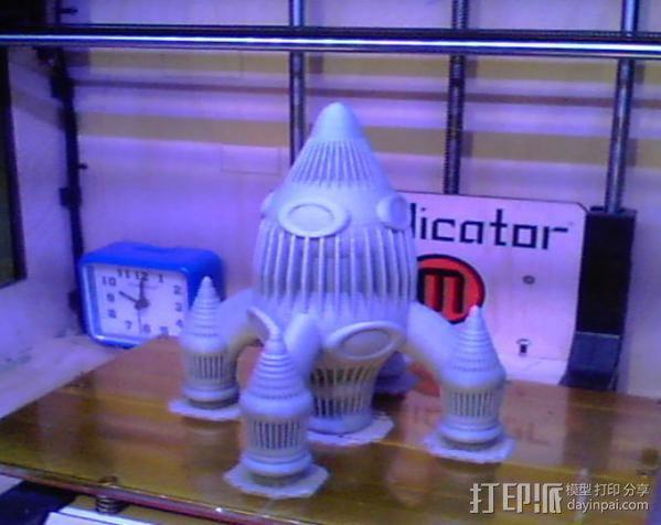 Retro 033四足火箭 3D模型  图2
