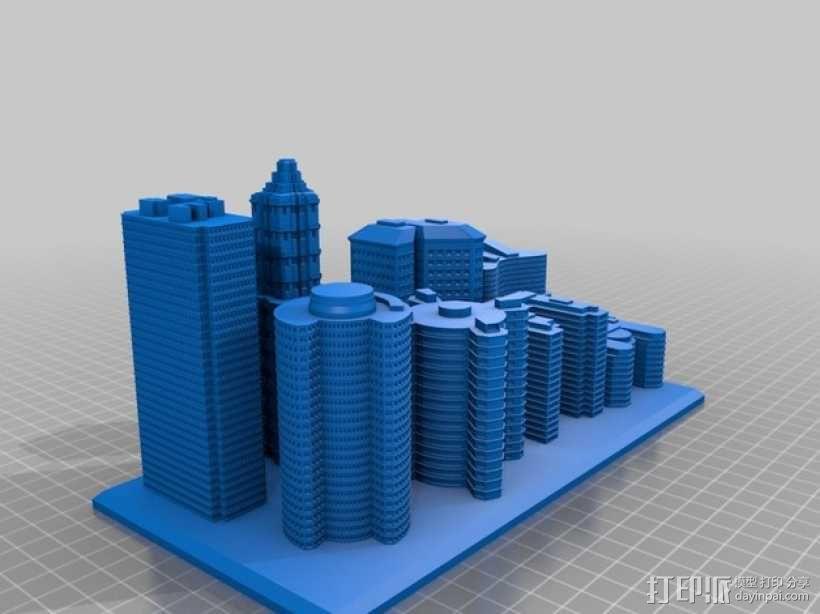 城市建筑 3D模型  图2