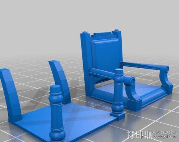 靠背椅 3D模型  图1