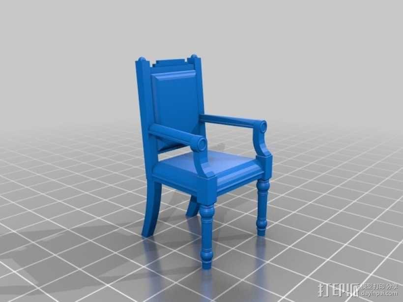 靠背椅 3D模型  图2