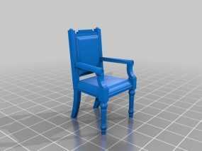 靠背椅 3D模型