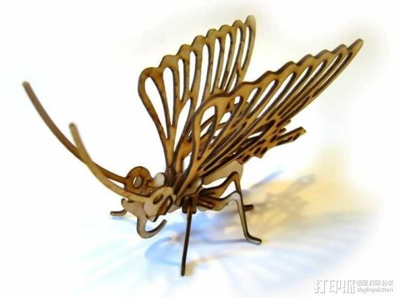 拼组蝴蝶 3D模型  图1